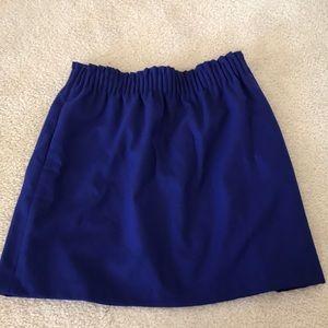 J.Crew Elastic Sidewalk Skirt Blue Sz 6